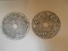 Planche gravure Moyen age Jacques Androuet du cerceau Triomphe de Diane