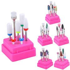 7 Pcs Nail Drill Set Bits Ceramic Head Nail Cuticle Polishing Manicure Tools