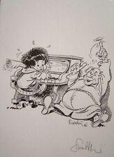 Ex-libris de Walthéry Bout d'Chique #2 signé