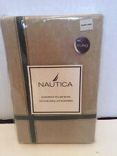 NAUTICA EURO European Pillow SHAM Seagrove Olive Beige 100% Cotton