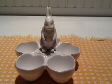Williams Sonoma Earthenware  Easter Egg Candy Holder Bunny Rabbit Lapin