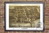 Vintage Sandusky, OH Map 1884 - Historic Ohio Art - Old Victorian Industrial