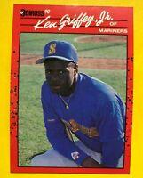 1990 NO Dot Period KEN Griffey Jr Donruss ERROR Card #365 Baseball MINT RARE mlb