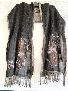 KAPRE Large  Long Shawl Wrap Pashmina Stole Blanket Scarf Evening Wrap 100% Wool