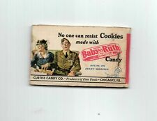 Vintage 1940s Baby Ruth Candy Bar Lipstick Tissues Unused in Original Package