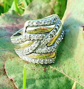 9kGold & Sterling Silver Ring