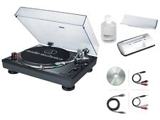 Audio-Technica AT-LP120USB Direct Drive DJ Turntable USB Output (Black) + More