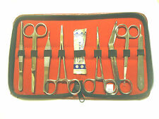 9 PCS MINOR SURGERY TOOL SET KIT MEDICAL SURGICAL INSTRUMENTS EXCELLENT NEW