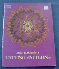 Vintage Tatting Patterns Julia Sandeers Dover Needlework Series
