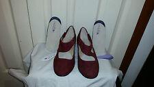 Diana Ferrari Multifit  claret shoes Size 7 Brand new in box