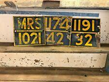 Vintage Indian Railway Metal Signs, Rustic Metal Wall Decor