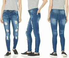 Cover Girl Cute Mid Rise Waisted Ripped Distressed Torn Skinny Juniors