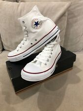 Unisex CONVERSE White  Chuck Taylor High Tops Size US Mens 8 Womens 10 [C41]