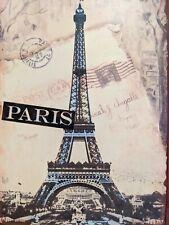PARIS Rustic Accents Metal Tin Hanging Wall Sign HOME DOCOR