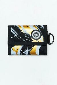 Hype Liquid Gold Marble Wallet  Black / White / Gold