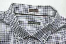 Peter Millar Mens Cashmere Cotton Blend Button Down Check Shirt Sz 3XT