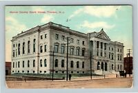 Trenton NJ, Mercer County Courthouse, Vintage New Jersey c1910 Postcard