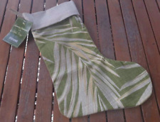 Tommy Bahama Christmas Stocking Canyon Holiday Beach Tropical Green Palm Leaf