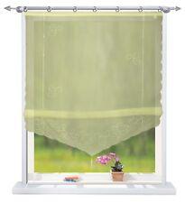 Herz Regenbogen Raffrollo Raffgardine mit Klettband B 120 cm x 160 cm Weiß