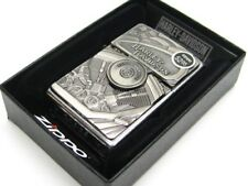 Zippo Full Size Street Chrome Harley Davidson Windproof Lighter w/ Emblem 29266