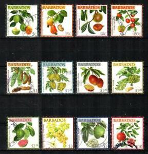 BARBADOS Scott's 1171/86 ( 12v ) Fruits F/VF Used ( 2011 )