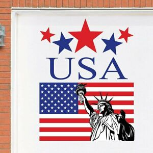 Patriotic 4th of July Statue of Liberty Garage Door Cover Magnets