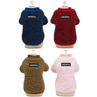 Pet Dog Clothes Puppy Cat Sweater Thick Coat Spring Warm Jacket Costume Apparel