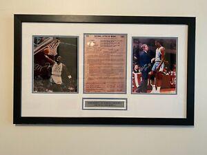 Michael Jordan UDA UNC Autograph w/ Dean Smith & Letter of Intent North Carolina