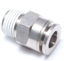 "1pc Brass Push into Connect Touch Fitting 1/8"" OD x 1/8 NPT Male BMTC1/8-N01"