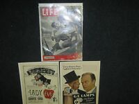 Lot of 3 Vintage Misc Advertising Pages From Magazines Life 40's-70s Kennedy