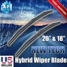 "Hybrid Windshield Wiper Blades Bracketless J-HOOK OEM QUALITY 20"" & 18"""