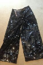 By Malene Birger black sequinned trousers