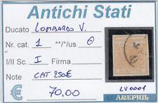 ANTICHI STATI - LOMBARDO VENETO - LV0001 - NR. 1 USATO - CATALOGO 250€