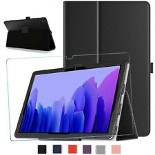 "Samsung Galaxy Tab A7 10.4"" T500 T505 2020 Leather Flip Glass Cover Tablet Case"