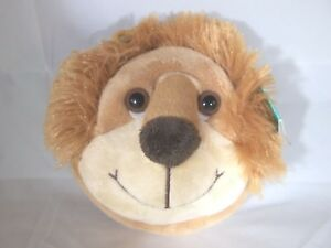 """Aurora World People Pals Lion backpack clip Plush Stuffed animal round pouch 4"""""""