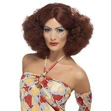 femmes années 70 auburn Réaliste Rouge Perruque afro sexy femmes disco
