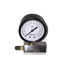 15 PSI Pressure Gauge Test Tester Gas Leak Checker 3/4 in. Pipe Schrader Valve