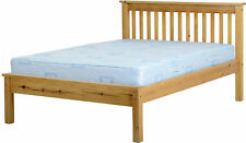 MONACO SOLID ANTIQUE PINE 3ft SINGLE 4ft6 DOUBLE LOW AND HIGH END BED FRAMES