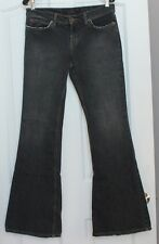 """JUICY COUTURE dark gray flare boot cut  JEANS waist 32"""" Distressed"""