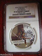 2010 Great Warriors Samurai PF69 ID #001 NGC PCGS ICG .999 Silver Coin Australia