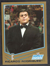 WWE 2013: TRIPLE THREAT (Topps) GOLD BORDER PARALLEL CARD #74 RICARDO RODRIGUEZ