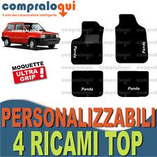 TAPPETI PER FIAT PANDA (80-03) TAPPETINI IN MOQUETTE SU MISURA + 4 RICAMI TOP