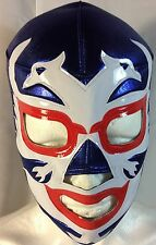 2 CARAS WRESTLING/LUCHADOR MASK! blue/white/red!! VINTAGE!! AWESOME!!  CLASSIC!!