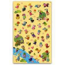 CUTE PUFFIN GEL STICKERS Sheet Bird Parrot Animal Scrapbook Puffy Sticker NEW