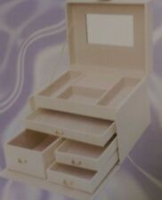 Small Four Drawer Cream Jewellery Box RRP 24.99