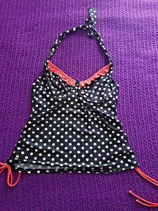 Brand New with Tags Figleaves Tuscany Spot Halterneck Tankini Top Size 38DD