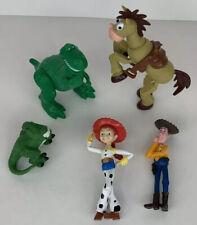 Lot Of Disney Pixar Toy Story Figures-Woody, Jesse, Rex (2), Bullseye Horse