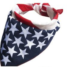 USA Stars American Flag Bandana Mans Ladies Hair Band Scarf Shawl Mens America