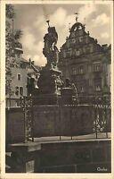 Gotha Thüringen alte Ansichtskarte ~1930 Partie am Schellenbrunnen am Hauptmarkt