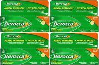 4 Pack Berocca Effervescent Tablets, Orange, 10 Count Each